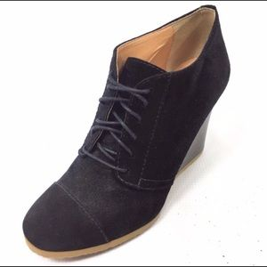 J. Crew Willem sued wedge chukka booties lace up